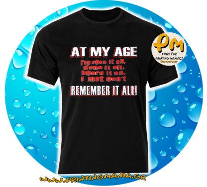 at my age...